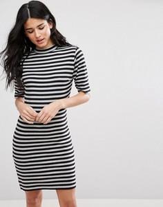 Облегающее платье в полоску Blend She Marrow - Черный