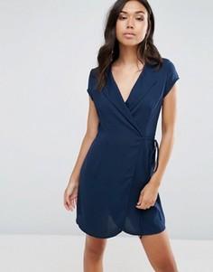 Платье-рубашка с запахом TFNC - Темно-синий