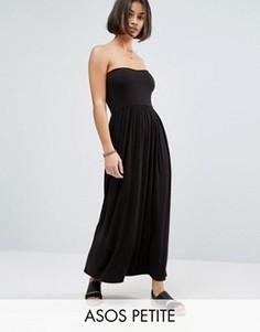 Платье-бандо макси ASOS PETITE - Черный