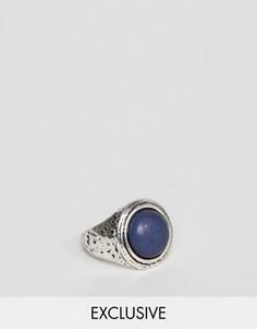 Серебряное кольцо с массивным камнем DesignB London - Серебряный