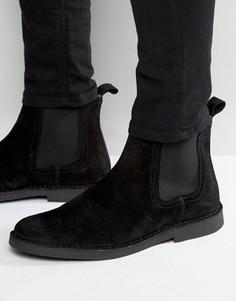 Замшевые ботинки челси Selected Homme Royce - Черный
