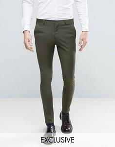 Супероблегающие брюки цвета хаки Heart & Dagger - Зеленый
