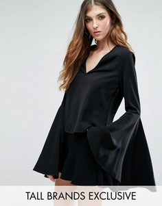 Блузка с расклешенными рукавами Missguided Tall - Черный