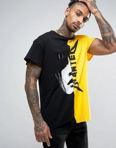 Свободная футболка с принтом Granted - Желтый