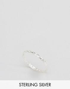 Серебряное кольцо с плетеной отделкой ASOS - Серебряный