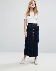 Темная джинсовая юбка Gestuz Christina - Синий