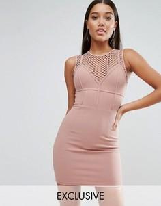 Платье мини NaaNaa - Коричневый