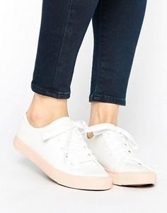 Парусиновые кроссовки в стиле колор блок New Look - Розовый