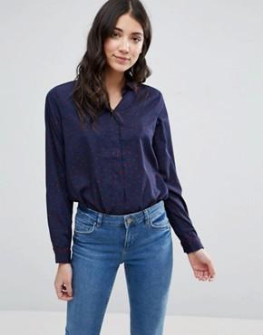 Блузка с принтом Brave Soul - Темно-синий