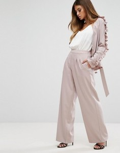Широкие брюки Boohoo - Розовый