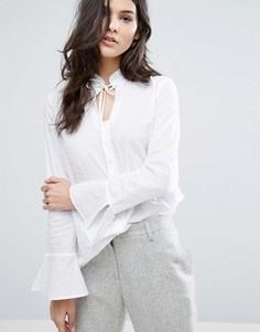 Рубашка с кружевной отделкой Y.A.S - Белый