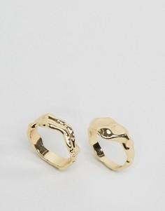 2 кольца с отделкой Monki - Золотой
