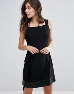 Платье с поясом на талии Little White Lies Indiana - Черный