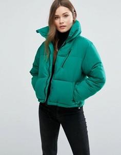 Свободная дутая куртка New Look - Зеленый