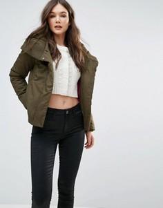 Дутое пальто со свободным воротом Girls On Film - Зеленый
