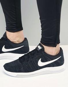 Низкие трикотажные кроссовки Nike Running Lunar Epic Flyknit 843764-002 - Черный