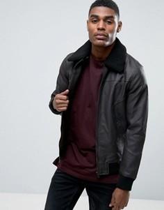 Куртка из искусственной кожи Black Seven Nate - Коричневый