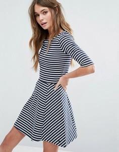 Короткое приталенное платье в полоску Jack Wills - Мульти