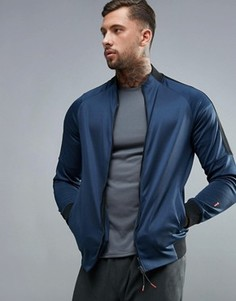 Темно-синяя спортивная куртка на молнии с воротом-трубой New Look - Темно-синий