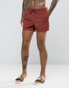 Укороченные шорты для плавания ASOS - Красный