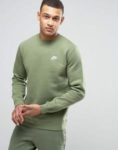 Зеленый свитшот с круглым вырезом и логотипом Nike 804340-387 - Зеленый