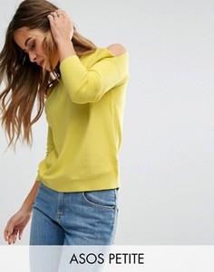Джемпер с открытыми плечами ASOS PETITE - Желтый