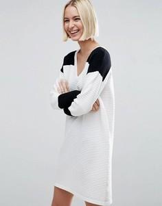 Монохромное платье-джемпер в стиле колор блок ASOS - Мульти