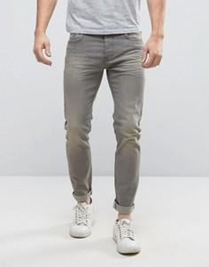 Светло-серые джинсы скинни United Colors of Benetton - Серый