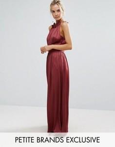 Платье макси для выпускного с плиссированной отделкой Little Mistress Petite - Красный