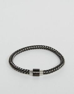 Черный плетеный браслет Ted Baker - Черный