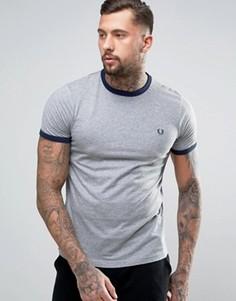Серая футболка Fred Perry Ringer - Серый