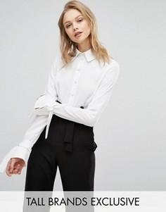 Рубашка с завязками на рукавах Alter Tall - Белый
