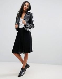Плиссированная юбка Pieces Tammi - Черный
