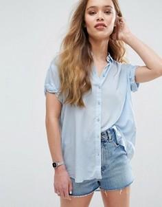 Рубашка с короткими рукавами Samsoe & Samsoe Moffa - Синий