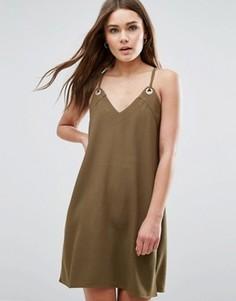 Платье на бретельках First & I - Зеленый