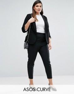 Укороченные зауженные брюки ASOS CURVE - Черный