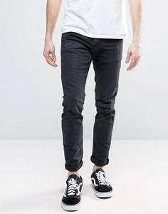 Узкие джинсы с рваной отделкой Jack & Jones Intelligence - Черный