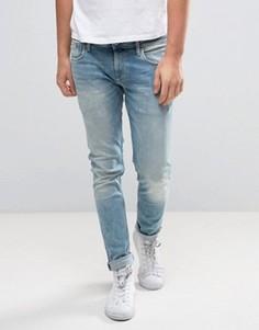 Светлые джинсы слим Pepe Jeans Finsbury - Синий