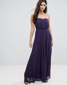 Платье макси без бретелек Adelyn Rae - Фиолетовый