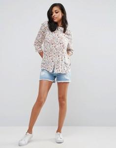 Джинсовые шорты с потертостями Vero Moda - Синий