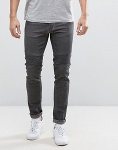 Байкерские джинсы скинни Redefined Rebel - Черный