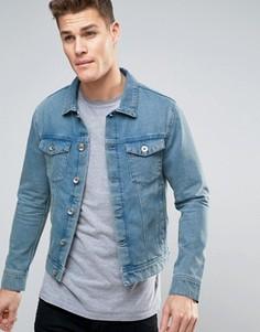 Джинсовая куртка цвета индиго Selected Homme - Синий