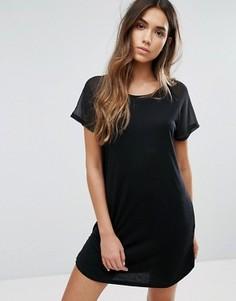 Платье с полупрозрачной вставкой на рукавах JDY - Черный