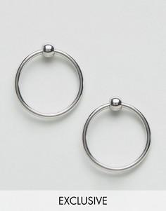 Серьги-кольца Monki - Серебряный