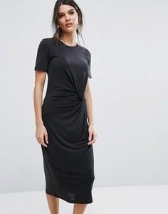 Трикотажное платье Selected Femme - Черный