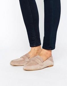 Мягкие кожаные лоферы Vero Moda - Серый