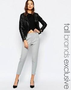 Строгие прямые брюки Y.A.S Tall - Серый