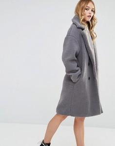 Oversize пальто-кокон Glamorous - Серый
