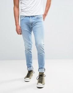 Суженные книзу джинсы с заниженным шаговым швом Edwin ED-85 - Синий