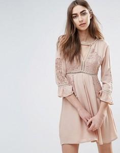 Платье с расклешенными рукавами Raga Love Always - Кремовый